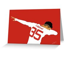 Manchester United's Jesse Lingard Greeting Card