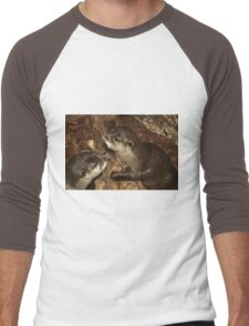 Otters  Men's Baseball ¾ T-Shirt