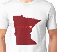 Minnesota - Red, Home Unisex T-Shirt