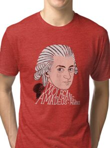 Wofgang Amadeus Mozart Tri-blend T-Shirt