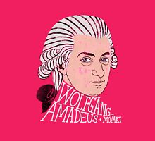 Wofgang Amadeus Mozart Womens Fitted T-Shirt