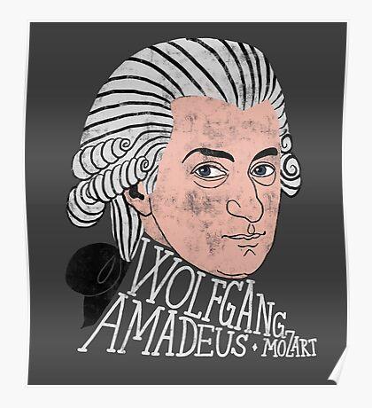 Wofgang Amadeus Mozart Poster