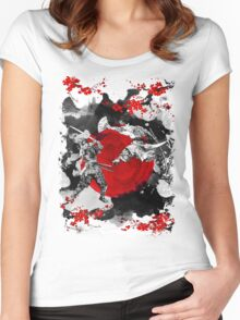 Samurai Fighting Women's Fitted Scoop T-Shirt