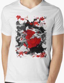 Samurai Fighting Mens V-Neck T-Shirt