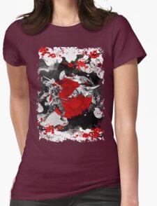 Samurai Fighting Womens Fitted T-Shirt