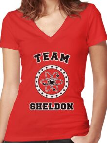 TBBT - Team Sheldon Women's Fitted V-Neck T-Shirt