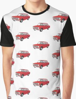 VAZ-2101 - Lada 1200 - illustration, red Graphic T-Shirt