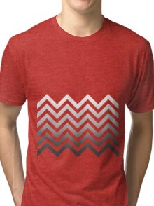 Zig Zag Black and White Tri-blend T-Shirt