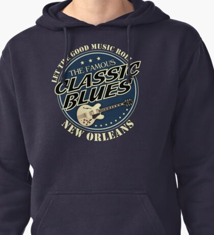 Beautiful Classic Blues Pullover Hoodie