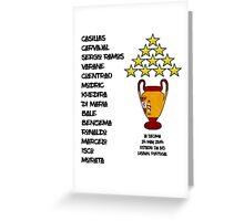Real Madrid 2014 Champions League Winners Greeting Card