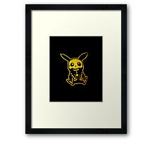 Pikachu pokemon inspired punk/gothic/emo design Framed Print