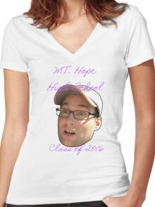 Mt. Hope High School Class of 2016 Women's Fitted V-Neck T-Shirt
