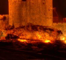 Eilean Donan Castle at night Sticker