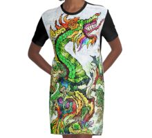Margins Dragon Graphic T-Shirt Dress