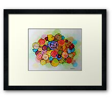 """Lucious"" - Colorful Unique Original Floral Design! Framed Print"