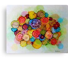 """""""Lucious"""" - Colorful Unique Original Floral Design! Canvas Print"""