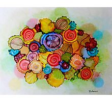 """Lucious"" - Colorful Unique Original Floral Design! Photographic Print"