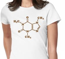 Caffeine Molecular Chemical Formula Womens Fitted T-Shirt