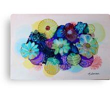 """""""Blooming Blues"""" - Colorful Unique Original Artist's Floral Design! Canvas Print"""