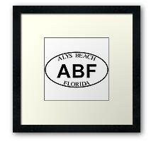 ALYS BEACH FLORIDA EURO OVAL Framed Print