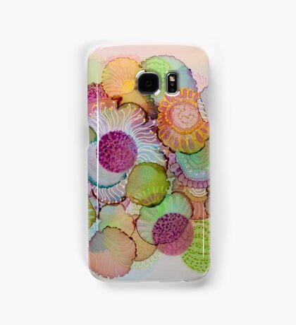 """Delicate"" - Colorful Unique Original Artist's Floral Design! Samsung Galaxy Case/Skin"