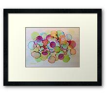 """Delicate"" - Colorful Unique Original Artist's Floral Design! Framed Print"