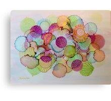"""""""Delicate"""" - Colorful Unique Original Artist's Floral Design! Canvas Print"""