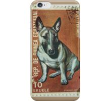 Bull Terrier Stamp iPhone Case/Skin