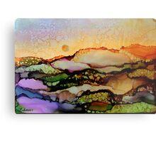 """""""Molten Mountain Dreams"""" - Colorful Unique Original Artist's Landscape! Metal Print"""