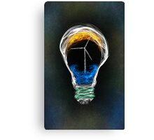 Power of Energy Light Bulb  Canvas Print