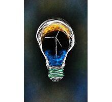 Power of Energy Light Bulb  Photographic Print