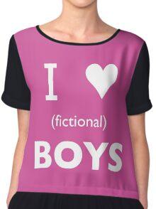 I love (fictional) boys Chiffon Top