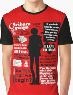 Orihara Izaya Quotes Graphic T-Shirt