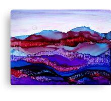 """""""Blue Mountain Dream"""" - Colorful Unique Original Artist's Landscape! Canvas Print"""