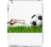 Orange soccer shoes with football iPad Case/Skin