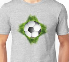 Abstract green grass colorful football design Unisex T-Shirt