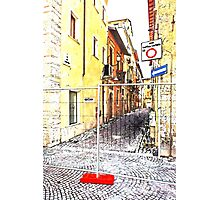 L'Aquila: street and road signs Photographic Print
