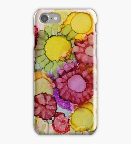 """""""Late Summer Blooms"""" - Colorful Unique Original Floral Painting! iPhone Case/Skin"""