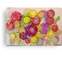 """Late Summer Blooms"" - Colorful Unique Original Floral Painting! Metal Print"