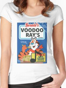 VOODOO RAY'S CEREAL BOX Women's Fitted Scoop T-Shirt