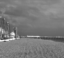Boats by Brighton Beach Sticker