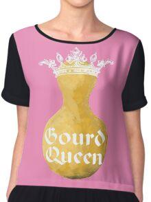 Gourd Queen Chiffon Pretty in Pink Chiffon Top