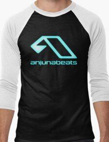 Blue-Anjunabeats Men's Baseball ¾ T-Shirt