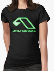 green-Anjunabeats Womens Fitted T-Shirt