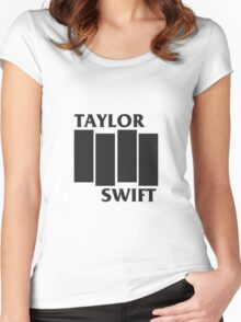Taylor Swift Black Flag Women's Fitted Scoop T-Shirt