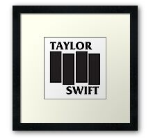 Taylor Swift Black Flag Framed Print