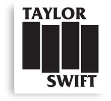 Taylor Swift Black Flag Canvas Print