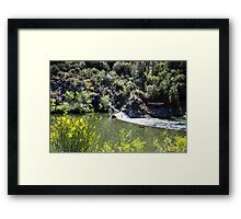 feather river dam - magalia, ca Framed Print