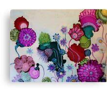 """Whimsy"" - Colorful Unique Original Artist's Fantasy Floral Design! Canvas Print"