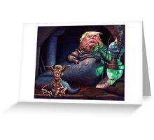 Jabba the Trump Greeting Card